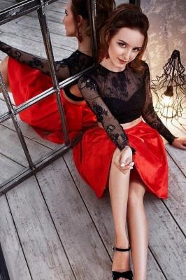 Sexy vestido de regreso a casa | con mangas largas de joya de dos piezas_1