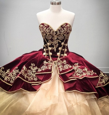 Wonderful Sweetheart Embroidery Ball Gown 15 Dresses | Sleeveless Cascading Rruffles Quinceanera Dresses Long_3