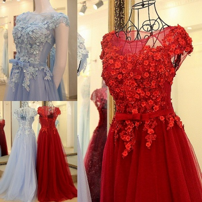 Jewel Sleeveless Flowers Quinceanera Dress_1