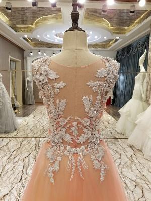 vestidos largos de quincea_era una línea | Apliques de encaje sin mangas_3