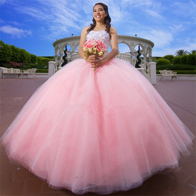 Excellent Pink Sweetheart Beadings Ball Gown Quince Dresses | Excellent XV Dresses Long_1