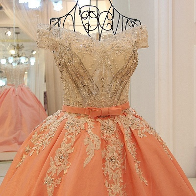 Ball-gown Off-the-shoulder Appliques Sash Quinceanera Dresses_5