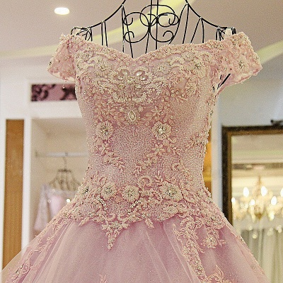 Off the Shoulder Sweetheart Sleeveless Quinceanera Dress_4