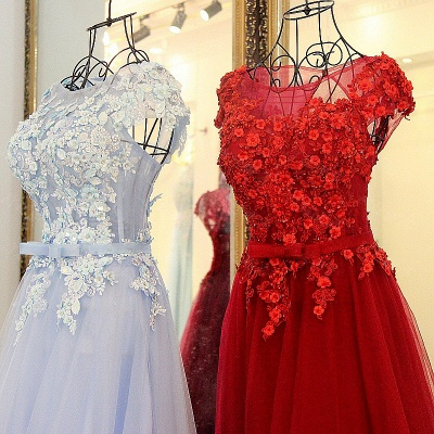 Jewel Sleeveless Flowers Quinceanera Dress_3