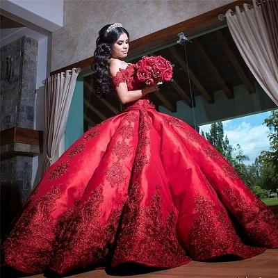 Maravilloso Burdeos Vestido De Bola 16 | Quincea_era encaje vestidos largos_1