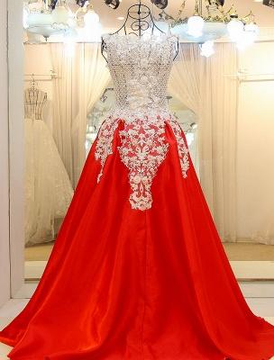 vestidos de quincea_era roja con apliques | de encaje rebordear sin mangas_2