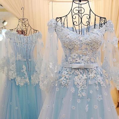 vestidos de quincea_era con mangas largas | de tul de flores apliques_3