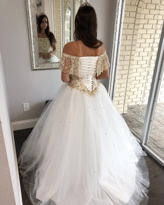 Fabulous Off-the-shoulder Beadings Ball Gown XV Dresses | Lace Quinceanera Dresses Long_3