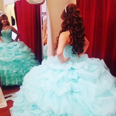 Beautiful Sweetheart Sleeveless Ball Gown Quinceanera Dresses | Beadings Ruffles 16 Dresses Long_2