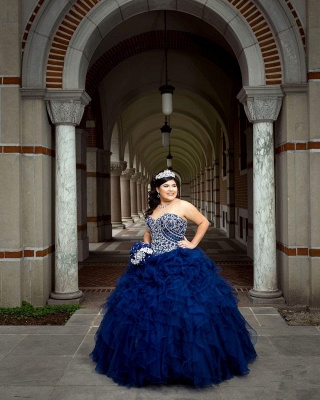 Vestido de fiesta maravilloso vestido de fiesta 15 vestidos | Volantes sin mangas de quinceañera vestidos largos_3