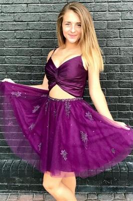 Sexy vestido de regreso a casa | con cuentas de tul de dos piezas_1