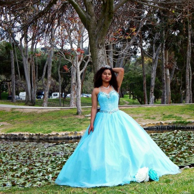 Exquisite Spaghetti Straps Beadings Ball Gown Sweet 16 Dresses | Detachable Jacket Quinceanera Dresses Long_3