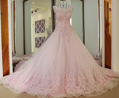 Exquisite Sweetheart Appliques Pearls Quinceanera Dress_6