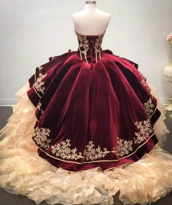 Wonderful Sweetheart Embroidery Ball Gown 15 Dresses | Sleeveless Cascading Rruffles Quinceanera Dresses Long_2