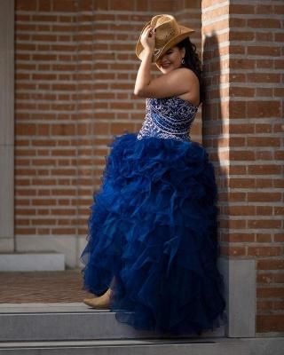Vestido de fiesta maravilloso vestido de fiesta 15 vestidos | Volantes sin mangas de quinceañera vestidos largos_2
