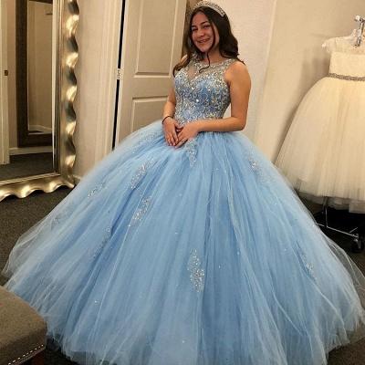 Joyas maravillosas Listones vestido de bola dulce 16 vestidos | Apliques Quinceañera Vestidos Largos_1