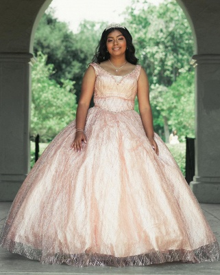 Marvelous Lace Scoop Ball Gown Sweet 16 Dresses | Beadings Quinceanera Dresses Long_2