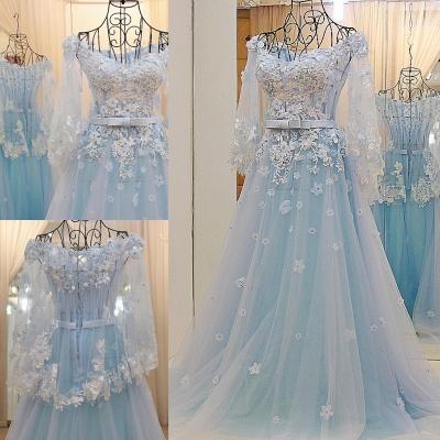 vestidos de quincea_era con mangas largas | de tul de flores apliques_1