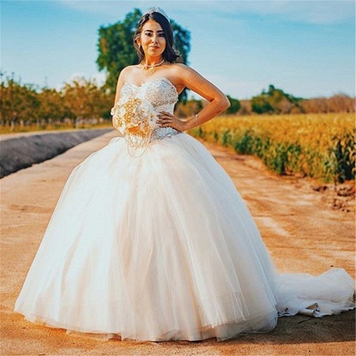 Vestido de fiesta maravilloso vestido de bola dulce de los vestidos 16 | Tren de barrido quinceañera vestidos largos_1