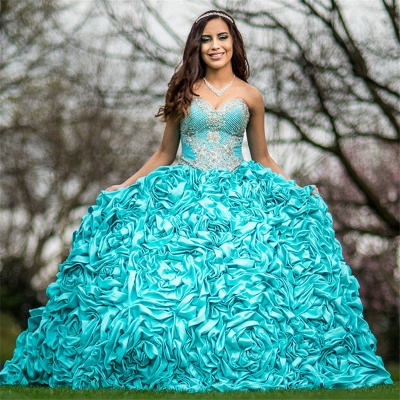 Exquisite Sweetheart Beadings Ball Gown Quinceanera Dresses | Pick-Up Sweet 16 Dresses Long_2
