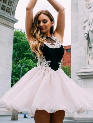 Jewel Appliques Sleeveless Mini Dama Dress_2