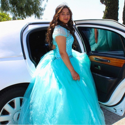 Exquisite Spaghetti Straps Beadings Ball Gown Sweet 16 Dresses | Detachable Jacket Quinceanera Dresses Long_2
