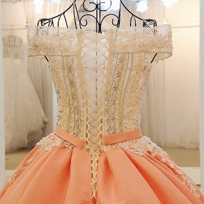 Ball-gown Off-the-shoulder Appliques Sash Quinceanera Dresses_4