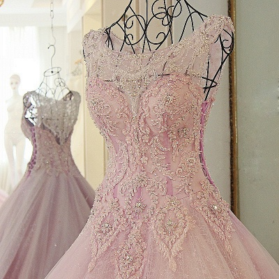 Exquisite Sweetheart Appliques Pearls Quinceanera Dress_2