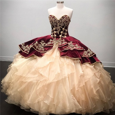 Wonderful Sweetheart Embroidery Ball Gown 15 Dresses | Sleeveless Cascading Rruffles Quinceanera Dresses Long_1