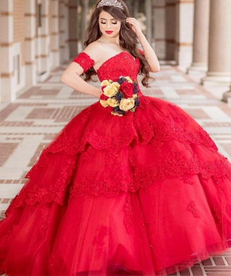 Excellent Strapless Sweetheart Ball Gown Quince Dresses | Appliques XV Dresses Long_2
