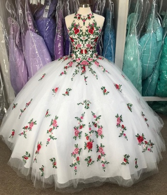 Wonderful Jewel Sleeveless Appliques Sweep train 15 Dresses | Open Back Quinceanera Dresses_3