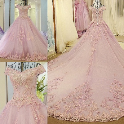 Off the Shoulder Sweetheart Sleeveless Quinceanera Dress_1