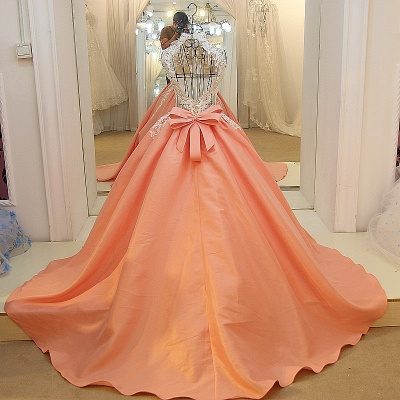 High Neck Sleeveless Appliqued Open Back Quinceanera Dresses_2