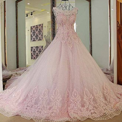 Exquisite Sweetheart Appliques Pearls Quinceanera Dress_1