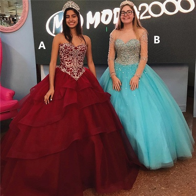 Amazing Ball Gown Quince Dresses | Lace Beadings Sweet 16 Dresses Long_1