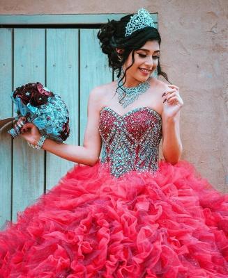 Vestido de fiesta de quinceañera con adornos de tul y falda de bola fantástica_3