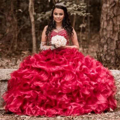 Vestido de fiesta de quinceañera con adornos de tul y falda de bola fantástica_1