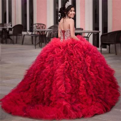 Vestido de fiesta de quinceañera con adornos de tul y falda de bola fantástica_2