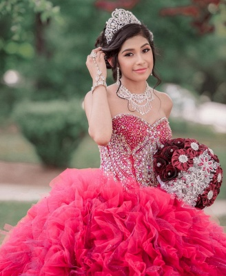 Fantastic Ball Gown Tulle Sweetheart Beading Quinceanera Dress_5