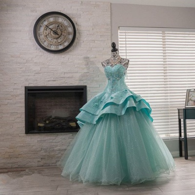 Stylish Sweetheart Sequins Quinceanera Dress with Beadings_3