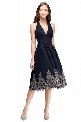 Simple vestidos de cóctel corte | cuello colgando burdeos_4