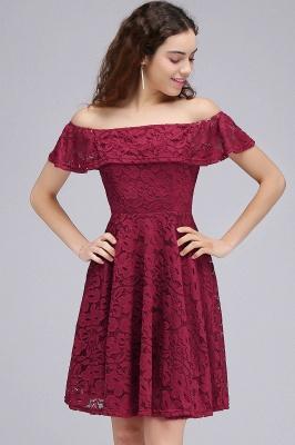 BRIAR | Quinceanera Off-the-shoulder Lace Burgundy Dama Dresses_7
