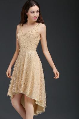 ANNABELLA | Quinceanera Hi-Lo Popular 15 Dama Dress With Pearls_4