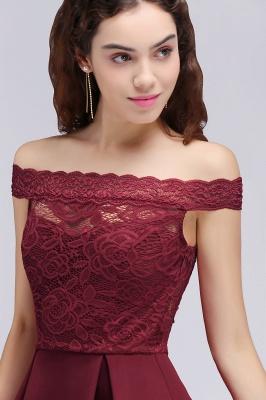 BROOKLYN | Quinceanera Off-the-shoulder Short Lace Burgundy Dama Dresses_6