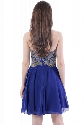 DAISY | Short Jewel Lace Chiffon Applique Quince Dama Dresses_3