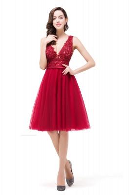 EVIE | Quinceanera Deep-V Neck Sleeveless Short Dama Dresses with Appliques_7
