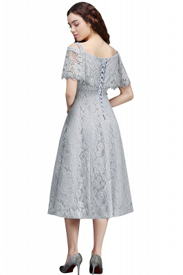 ALEXIS | A Line Off Shoulder Tea-Length Lace 15 Dama Dresses With Sash_3