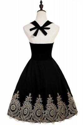 Simple vestidos de cóctel corte | cuello colgando burdeos_7