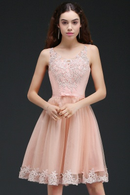 ANIYAH | Quinceanera Short Cute 15 Dama Dress With Lace_5