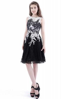 Vestidos de baile Cuello redondo | negros de encaje en general_1